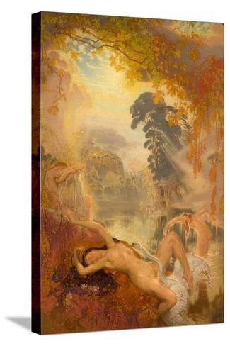 Leda and the Swan, 1928-William Shackleton-Stretched Canvas Print