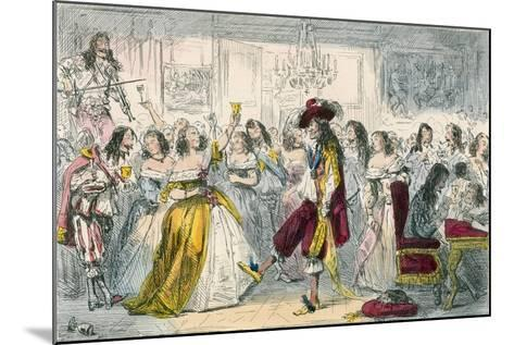 Evening Party, Time of Charles II-John Leech-Mounted Giclee Print