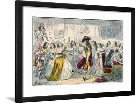 Evening Party, Time of Charles II-John Leech-Framed Art Print