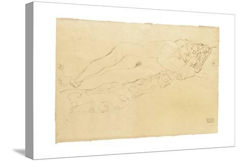 Two Reclining Nudes, c.1913-Gustav Klimt-Stretched Canvas Print