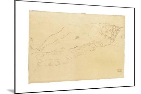 Two Reclining Nudes, c.1913-Gustav Klimt-Mounted Giclee Print