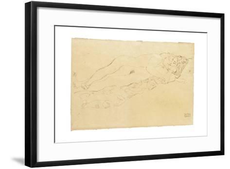 Two Reclining Nudes, c.1913-Gustav Klimt-Framed Art Print