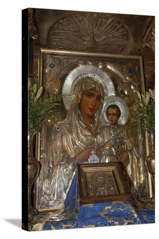 Icon of Mary and Jesus, Tomb of the Virgin Mary, Jerusalem, Israel, 2009--Stretched Canvas Print