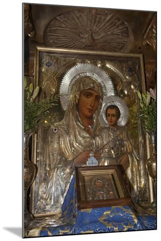 Icon of Mary and Jesus, Tomb of the Virgin Mary, Jerusalem, Israel, 2009--Mounted Photographic Print