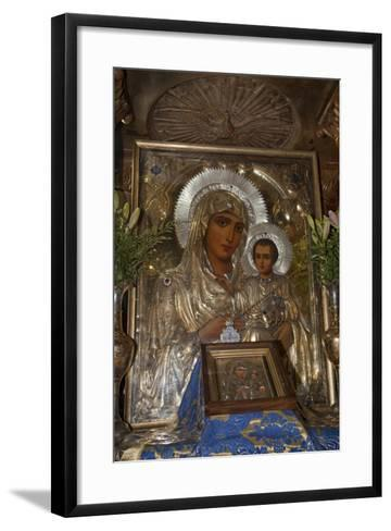 Icon of Mary and Jesus, Tomb of the Virgin Mary, Jerusalem, Israel, 2009--Framed Art Print