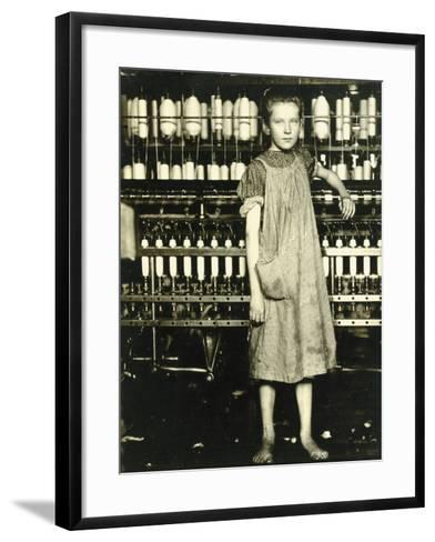 Spinner (Addie Laird), 1910-Lewis Wickes Hine-Framed Art Print