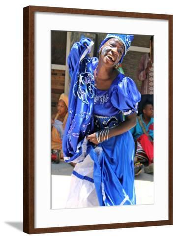Street Performer, Havana, Cuba--Framed Art Print