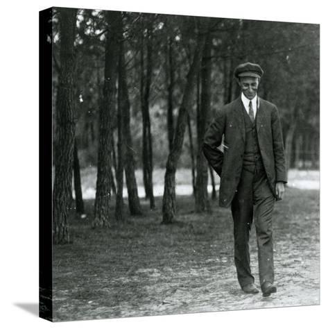 Wilbur Wright in France, 1909--Stretched Canvas Print