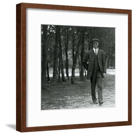 Wilbur Wright in France, 1909--Framed Art Print