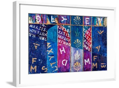 Letters Free Fall, 2012-Margaret Coxall-Framed Art Print