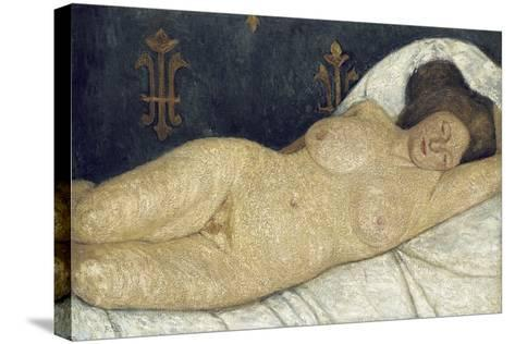 Reclining Female Nude, 1905-06-Paula Modersohn-Becker-Stretched Canvas Print