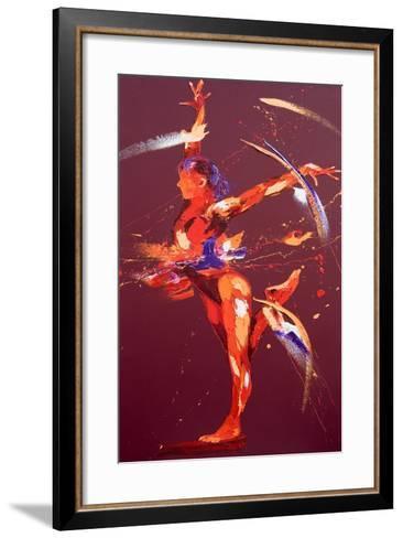 Gymnast Eight, 2011-Penny Warden-Framed Art Print