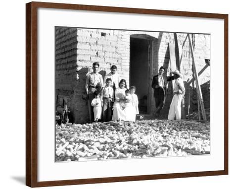 Family with Corn, State of Veracruz, Mexico, 1927-Tina Modotti-Framed Art Print