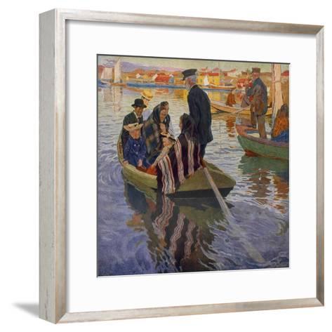 Church People-Carl Wilhelm Wilhelmson-Framed Art Print