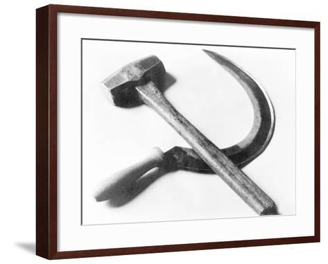 Mexican Revolution: Hammer and Sickle, Mexico City, 1927-Tina Modotti-Framed Art Print