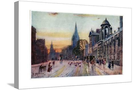 High Street, Oxford-William Matthison-Stretched Canvas Print