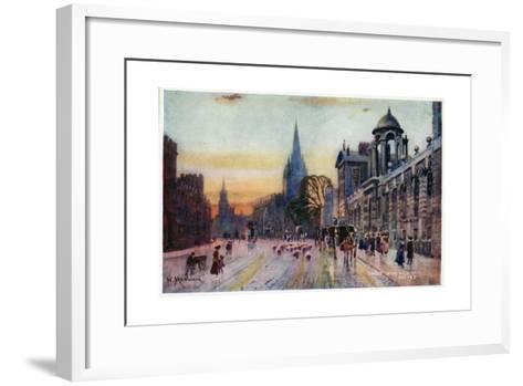 High Street, Oxford-William Matthison-Framed Art Print