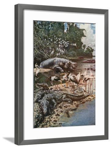 The Gambia River, as Described by Captain Jobson-Harry Hamilton Johnston-Framed Art Print