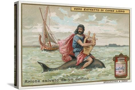 Arion and the Dolphin-European School-Stretched Canvas Print