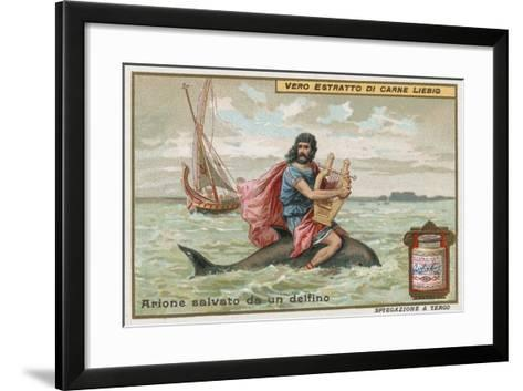 Arion and the Dolphin-European School-Framed Art Print