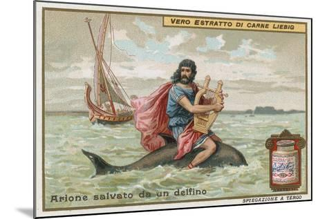 Arion and the Dolphin-European School-Mounted Giclee Print
