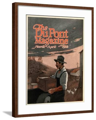 Boring Machines and Explosives Twin Helpers, Front Cover of the 'DuPont Magazine', March-April 1922-American School-Framed Art Print