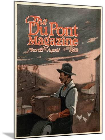 Boring Machines and Explosives Twin Helpers, Front Cover of the 'DuPont Magazine', March-April 1922-American School-Mounted Giclee Print