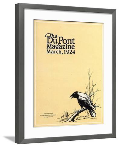 International Crow-Shooting Contest, Front Cover of the 'Dupont Magazine', March 1924-American School-Framed Art Print