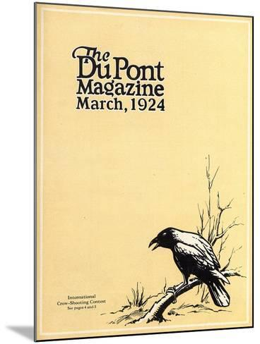 International Crow-Shooting Contest, Front Cover of the 'Dupont Magazine', March 1924-American School-Mounted Giclee Print