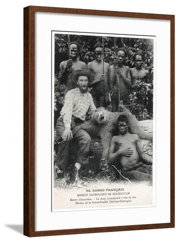 Le Singe Cynocéphale À Tête de Lion, c.1910--Framed Art Print