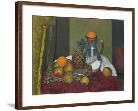 Apples and a Pineapple, 1923-F?lix Vallotton-Framed Art Print