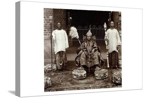 His Highness Oba (King) Aderemi I, the Oni of Ile Ife, Yorubaland, Nigeria, c.1930--Stretched Canvas Print