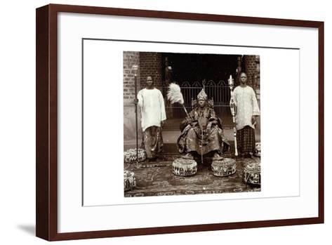 His Highness Oba (King) Aderemi I, the Oni of Ile Ife, Yorubaland, Nigeria, c.1930--Framed Art Print