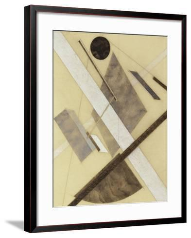 Proun: Path of Energy and Dynamic Flows, c.1920-El Lissitzky-Framed Art Print