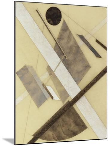 Proun: Path of Energy and Dynamic Flows, c.1920-El Lissitzky-Mounted Giclee Print