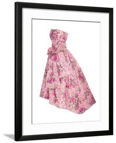 Pink Silk Taffeta Chine Gown, Yves Saint Laurent for Christian Dior, 1956--Framed Art Print
