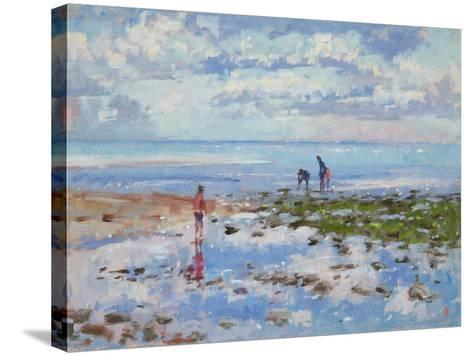 Low Tide Charmouth, 2012-Christopher Glanville-Stretched Canvas Print