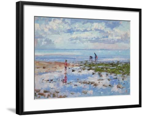 Low Tide Charmouth, 2012-Christopher Glanville-Framed Art Print