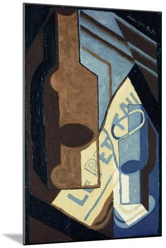 Bottle and Glass; Bouteille et Verre, 1921-Juan Gris-Mounted Giclee Print
