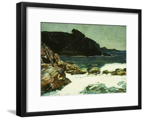 The Ledge, Cape Elizabeth, Maine, 1922-George Luks-Framed Art Print