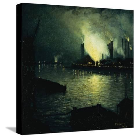 Steel Mills at Night, 1926-Aaron Henry Gorson-Stretched Canvas Print