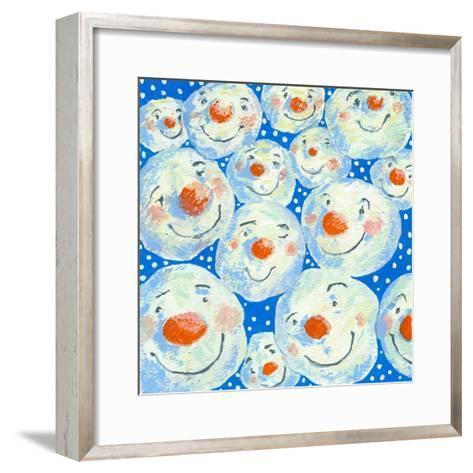 Smiling Snowballs, 2011-David Cooke-Framed Art Print