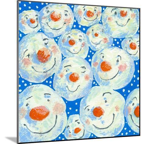 Smiling Snowballs, 2011-David Cooke-Mounted Giclee Print