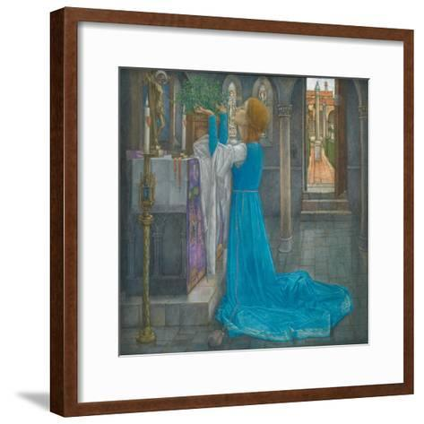 Isabella and the Pot of Basil-Edward Reginald Frampton-Framed Art Print
