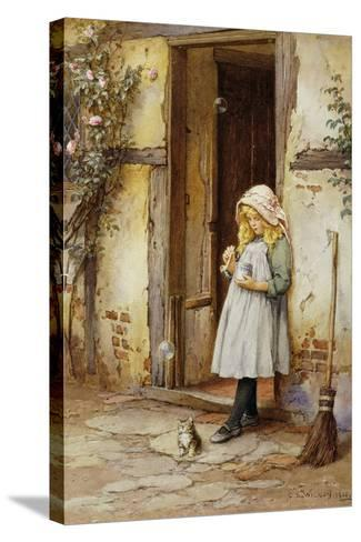 Bubbles for Kitty, 1908-Charles Edward Wilson-Stretched Canvas Print