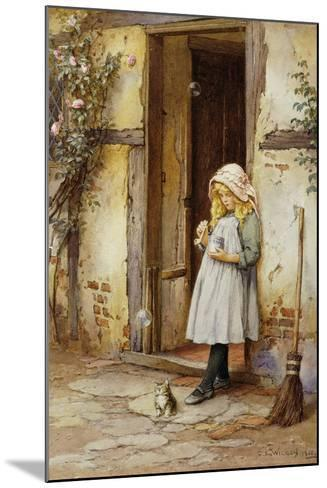 Bubbles for Kitty, 1908-Charles Edward Wilson-Mounted Giclee Print