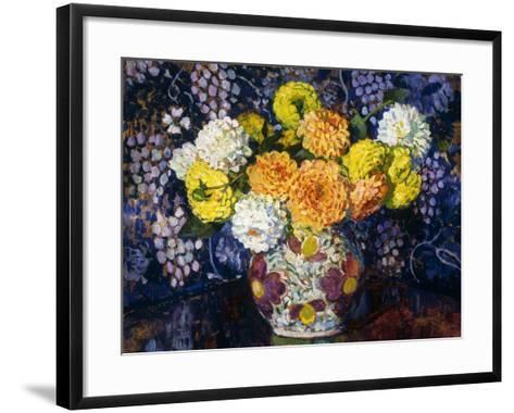 Vase of Flowers; Vase de Fleurs, 1907-Th?o van Rysselberghe-Framed Art Print