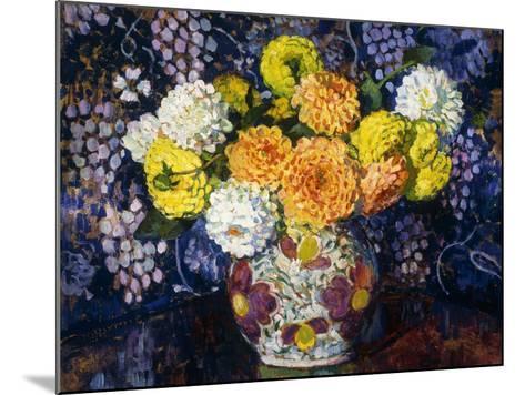 Vase of Flowers; Vase de Fleurs, 1907-Th?o van Rysselberghe-Mounted Giclee Print
