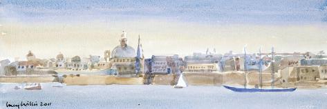 Valletta Skyline, 2011-Lucy Willis-Stretched Canvas Print