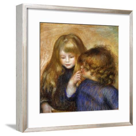 Jean and Coco; Jean et Coco, c.1902-Pierre-Auguste Renoir-Framed Art Print